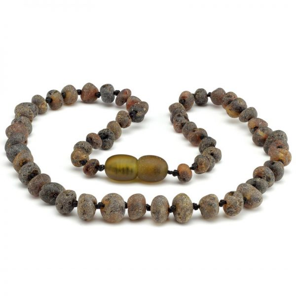 Unpolished Green Amber Necklace