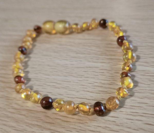 Honey and Cognac Amber Anklet