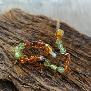 Cognac Amber with Peridot