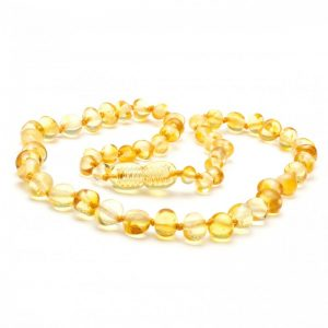 Lemon Amber Necklace 32cm