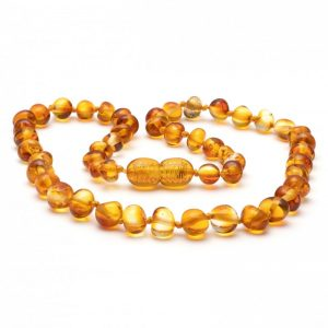 Light honey Amber Necklace 32cm